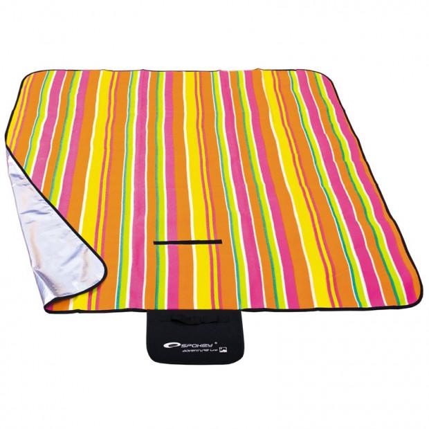 Pikniková deka Spokey Strips 130 x 150 cm