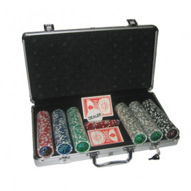 Poker set 300 v alu kufru s označením hodnot + dárek zdarma