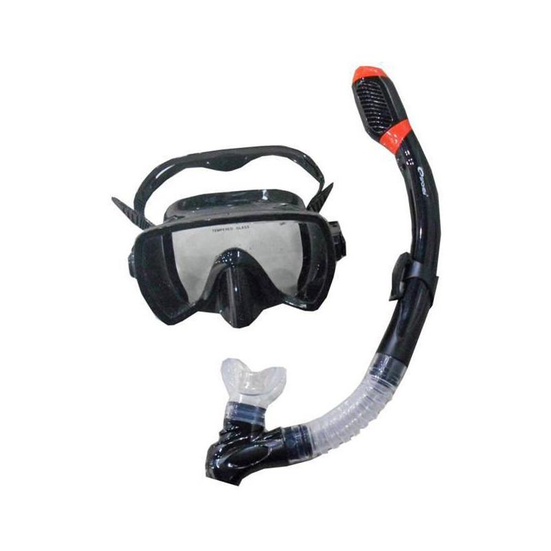 MALDIVE-Sada brýle+šnorchl černý