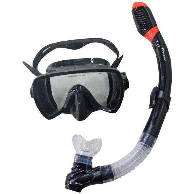 Sada brýle+šnorchl černý Spokey Maldive