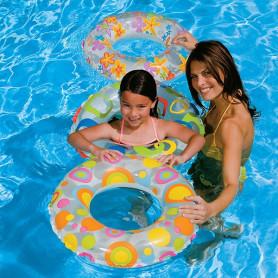 Plavecký nafukovací kruh Intex 3 assort