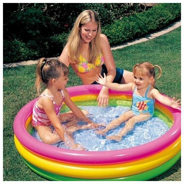 Bazén nafukovací Intex Soft Dno 114 x 25 cm