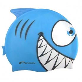 REKINEK-Plavecká čepice ŽRALOK modrá