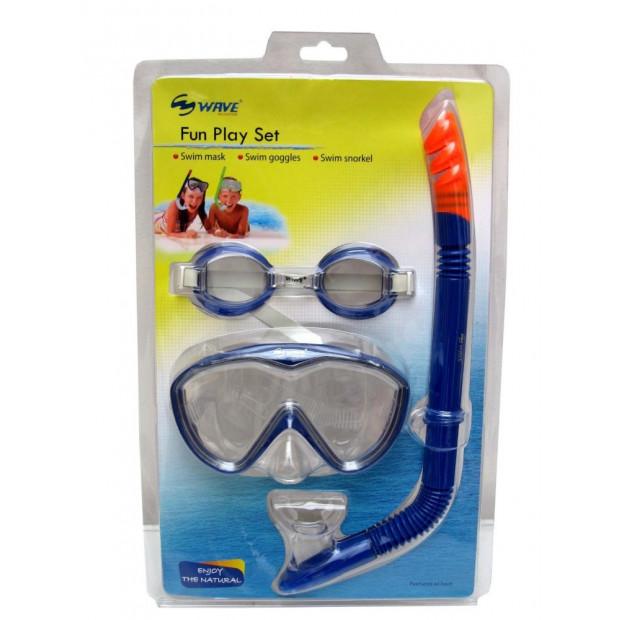 Dětský potápěčský set Wave, TPR 3v1