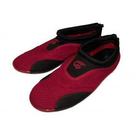 Dámské neoprenové boty do vody Alba červeno-černé
