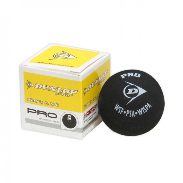 Míček na squash Dunlop PRO - 2 žluté tečky
