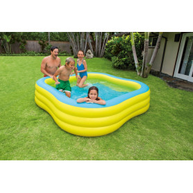 Nafukovací bazén Intex Čtverec Transparent 229 x 229 cm