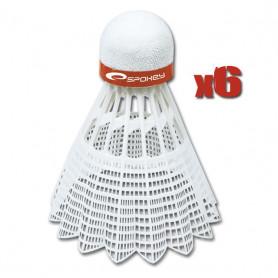 SHOOT BLUE-Badmintonové míčky 6ks nylonové