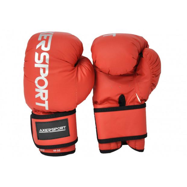Boxerské rukavice Axer Sport red 8 oz