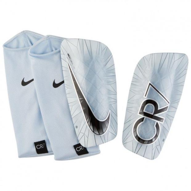 Fotbalové chrániče Nike CR7 Mercurial Lite Shin Silver
