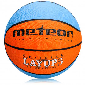 Basketbalový míč Meteor Layup 3 Blue/Orange