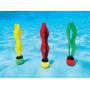 Míčky se stužkou pro potápění Intex jsoukombinace barev žlutá, červená, zelená, pro potápění. .Míček se po vhození do bazénku postaví na jeho dno a děti tak mají výbornou hračku pro procvičení potápění.