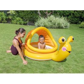 Dětský bazén Intex 57124 Šnek se stříškou 145 x 102 x 74 cm
