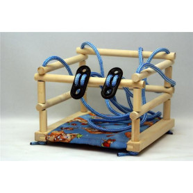 Dřevěná houpačka pro děti Malimas do 20 kg