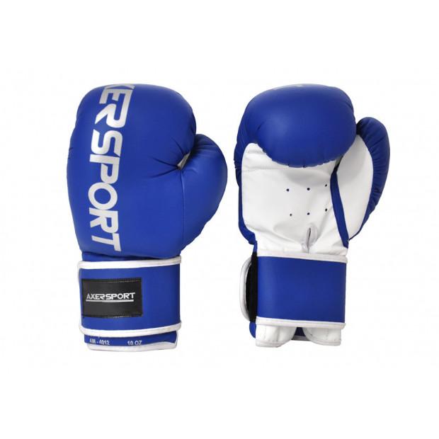 Boxerské rukavice Axer Sport Blue 10 oz