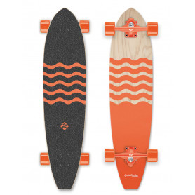 "Longboard Street Surfing Cut Kicktail 36"" Blown Out Orange"