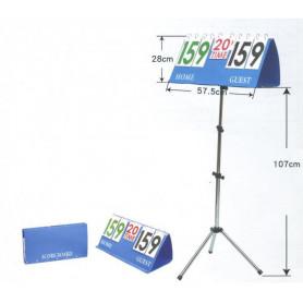 Ukazatel skóre se stojanem SEDCO Blue 57,5 x 28 cm