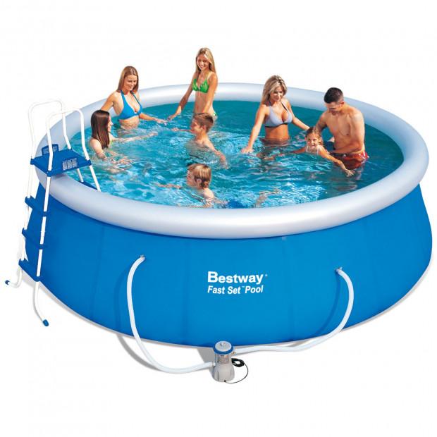 Nafukovací bazén Bestway Fast Set 457 x 122 cm s filtrací