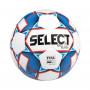 Fotbalový míč Select FB Brillant Super TB White/Bluepro profesionální soutěže schválen FIFA Quality Pro. S pečlivě vybranými materiály a klasickou dvaatřiceti panelovou konstrukcí. Lepený míč má výhodu při hře v mokrém a vlhkém prostředí, protože neabsorbuje vodu do švů a zachovává si tak stále stejnou váhu. Tepelně lepená verze fotbalového top modelu Brillant Super s označením TB (thermo bonded)