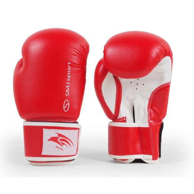 Boxerské rukavice SMJ Sport Hawk Red 10 oz