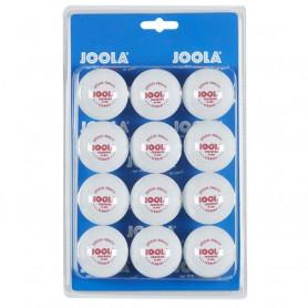 Tréninkové míče na stolní tenis Joola 40 mm, 12 ks, bílé