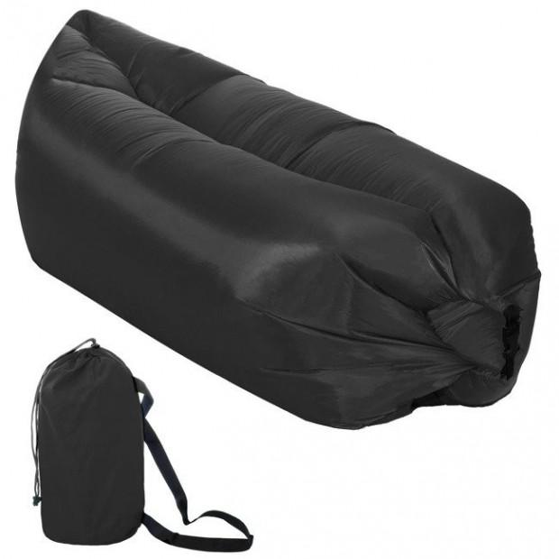 Nafukovací vak SPRINGOS Sofa Lazy Bag Black 190 x 85 x 62 cm / 180 kg