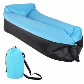 Nafukovací vak SPRINGOS Sofa Lazy Bag Blue/Black 185 x 75 x 45 cm / 180 kg