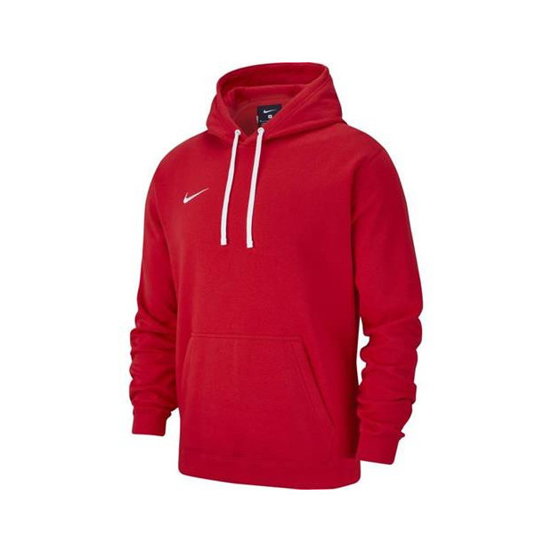 Pánská mikina Nike Team Club 19 Fleece Hoodie Red AR3239 657