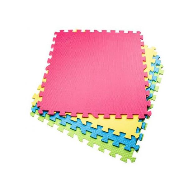 Puzzle podložky Springos 60 x 60 x 1 cm / 4 kusy pod bazény a posilovací stroje MultiColor