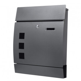 Poštovní schránka Springos MB0021 45 x 35 x 10 cm antracitová