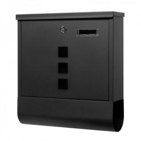 Poštovní schránka Springos MB0022 33,5 x 30,5 x 9,5 cm černá mat s okýnkem