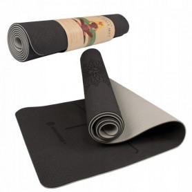 Podložka na jógu Springos YG0016 183 x 61 x 0,6 cm / černo-šedá