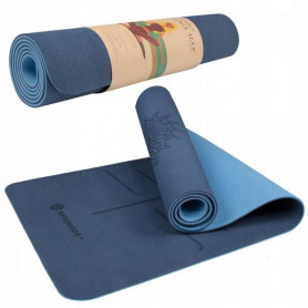 Podložka na jógu Springos YG0012 183 x 61 x 0,6 cm / tmavě modrá-modrá