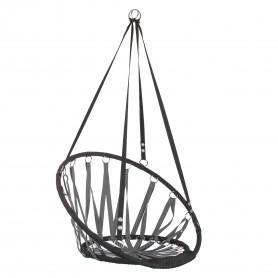 Lanová houpačka Springos SPR0016 80 cm černo-šedá