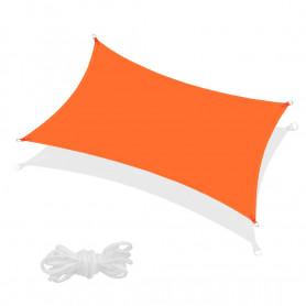 Stínící plachta proti slunci Springos SN0011 3 x 2 m oranžová