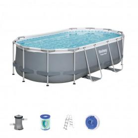 Oválný bazén Bestway 56620 Power Steel 427 x 250 x 100 cm s konstrukcí