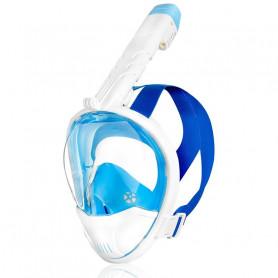 Celoobličejová maska Spokey KARWI BL/WT - bílá L/XL