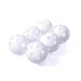 Florbalové míčky Vinex VPPB-S70S6 white, 6 ks