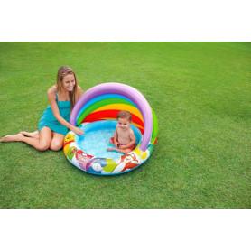 Bazén pro děti Medvídek Pú se stínítkem 102 x 69 cm