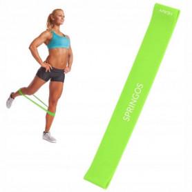 Posilovací odporová guma Springos PB0009 15-20 kg / zelená