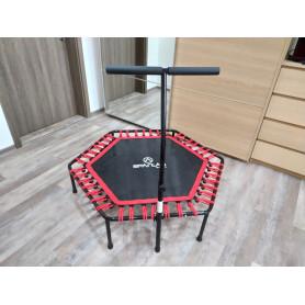 Fitness trampolína Spartan Hexagon 126 cm s madlem