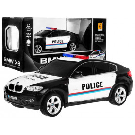 RC 1:24 licencované policejní auto Bmw X 6 Black Police