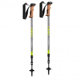 Trekingové hole Leki Trail Antishock 65020351, 110 - 145 cm,  green-yellow