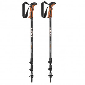Trekové hole Leki Khumbu Antishock 6492026, 110 - 145 cm,  grey-white-orange