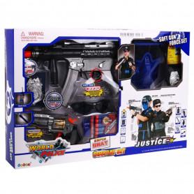 Policejní set XXL pistole, maska, zbraně, pouta