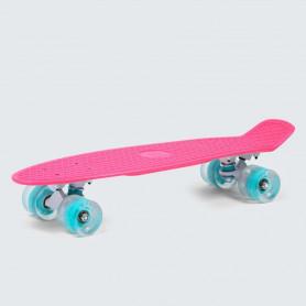 Penny board SMJ Sport BS-2206PL LED Pink