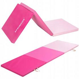 Skládací žíněnka Springos 180 x 60 x 5,5 cm Pink Light
