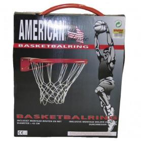 Koš na basket + síť FEDER, červená