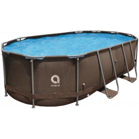 Bazén ovál Steel Super Rattan 427 x 275 x 100 cm