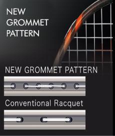 Yonex technologie NEW Grommeet Pattern